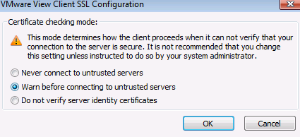 Do not verify server identity certificates