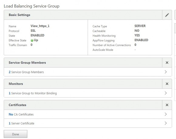 VMware View Service Group
